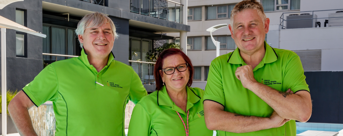 Perth Strata Cleaning Services Andy Collins, Kim Jarvis, Gary Joynson